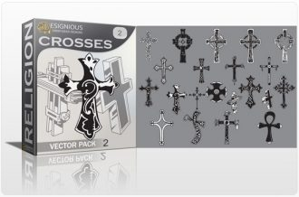Crosses vector pack 2 Religion cross