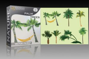 Palm trees vector pack 2 Nature hammock