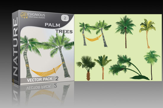 Palm trees vector pack 2 products palmtrees2