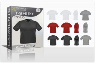 T-shirt polo garments vector pack 1 Garments textile