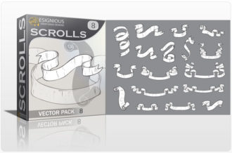 Scrolls vector pack 8 Scrolls ribbon