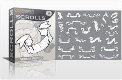 Scrolls vector pack 9 Scrolls ribbon