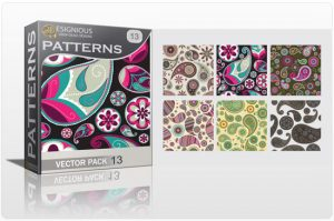 Seamless patterns vector pack 13 paisley Patterns pattern