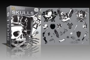 Skulls vector pack 16 Skulls ball