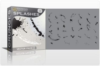 Splashes vector pack 3 Halftones & grunges grunge