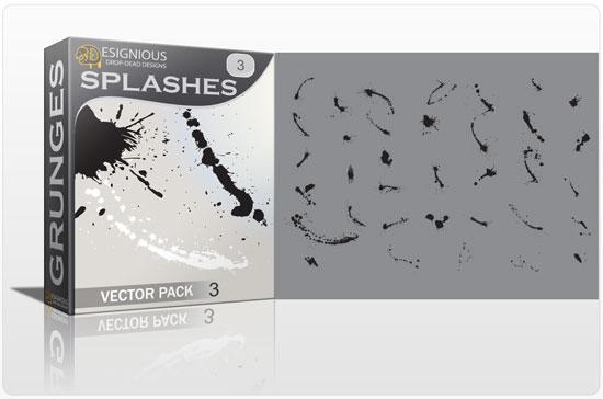 Splashes vector pack 3 1