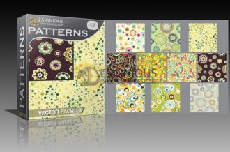 Seamless patterns vector pack 17 Vector Patterns flower
