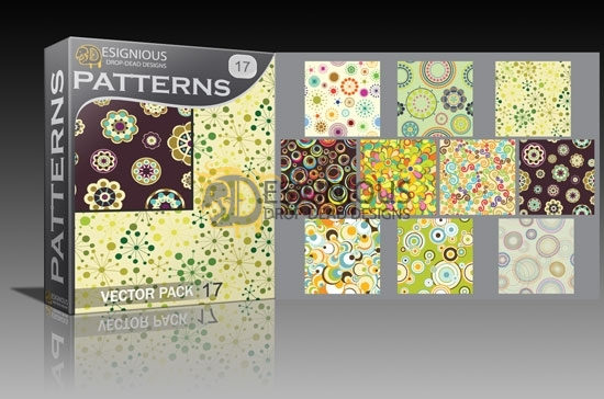 Seamless patterns vector pack 17 5