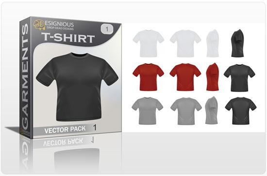 T-shirt garments vector pack 1 products tshirt
