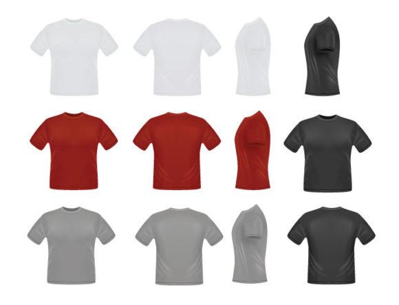 T-shirt garments vector pack 1 products tshirtbig