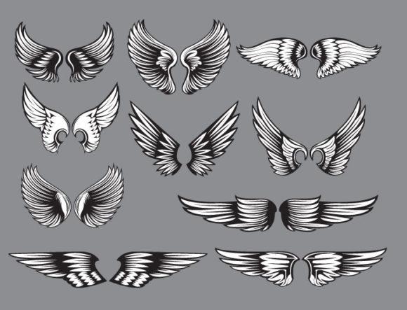 Wings vector pack 10 6