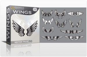 Wings vector pack 10 Wings vector