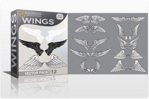Wings vector pack 12 Wings vector