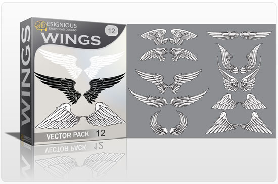 Wings vector pack 12 Wings vector