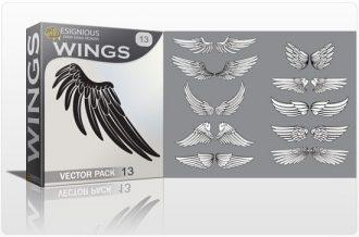 Wings vector pack 13 Wings vector