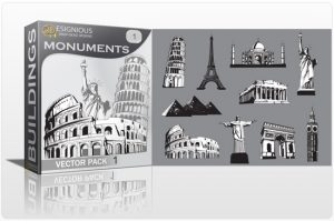 Monuments vector pack 1 Buildings england