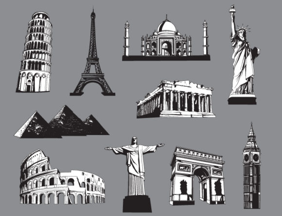 Monuments vector pack 1 2