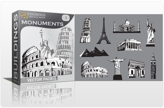 Monuments vector pack 1 1