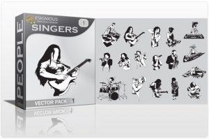Singers vector pack 1 People music