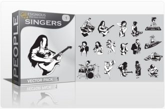 Singers vector pack 1 People music