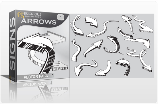 Arrows vector pack Signs symbol