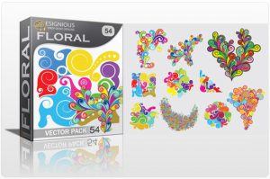 Floral vector pack 54 Floral wave