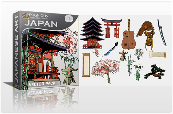 Japan vector pack products japan1