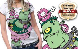 T-shirt design plus 12 T-shirt designs and templates kids