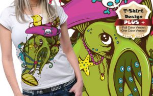 T-shirt design plus 15 T-shirt designs and templates [tag]