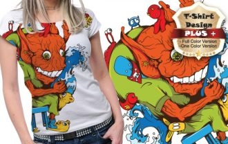 T-shirt design plus 16 T-shirt Designs and Templates [tag]