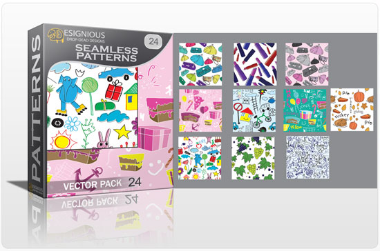 Seamless patterns vector pack 24 Vector Patterns star