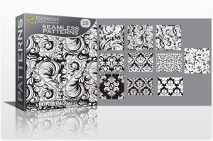 Seamless patterns vector pack 28 Patterns victorian