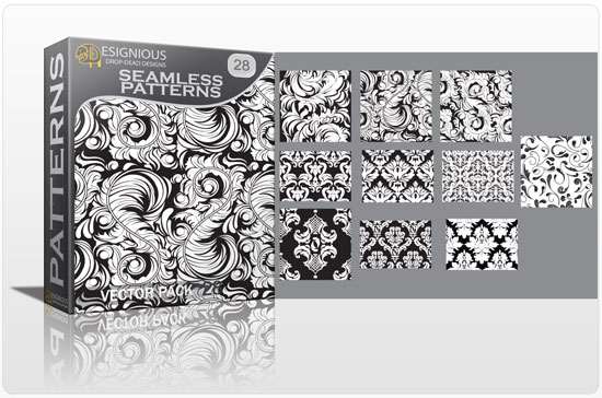 Seamless patterns vector pack 28 Vector Patterns victorian