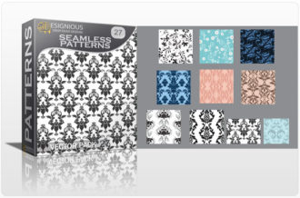 Seamless patterns vector pack 27 Vector Patterns victorian
