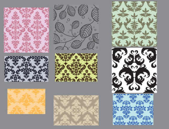 Seamless patterns vector pack 23 Vector Patterns victorian