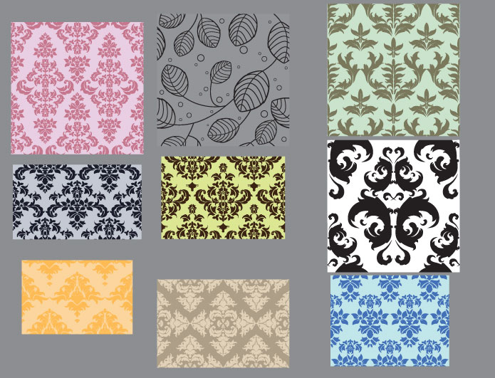 Seamless patterns vector pack 23 Patterns victorian