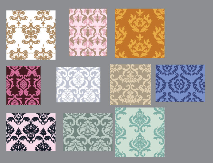 Seamless patterns vector pack 25 Patterns victorian