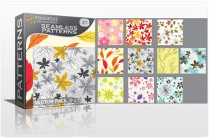 Seamless patterns vector pack 21 Patterns leaves