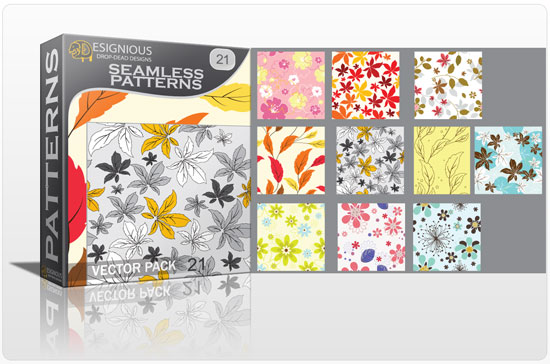 Seamless patterns vector pack 21 Vector Patterns leaves