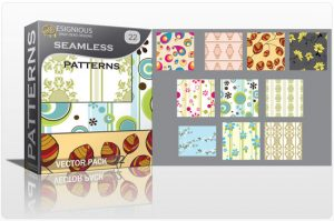Seamless patterns vector pack 22 Patterns retro