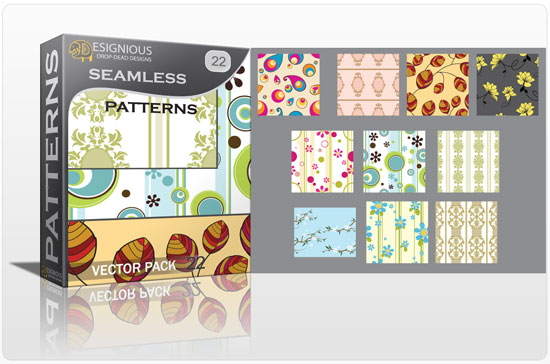 Seamless patterns vector pack 22 Vector Patterns retro