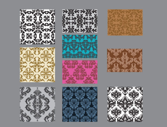 Seamless patterns vector pack 26 Vector Patterns victorian