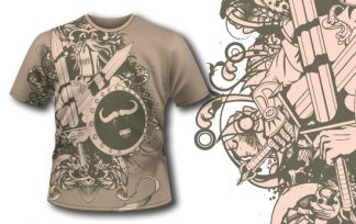 T-shirt design 185 T-shirt designs and templates heraldry