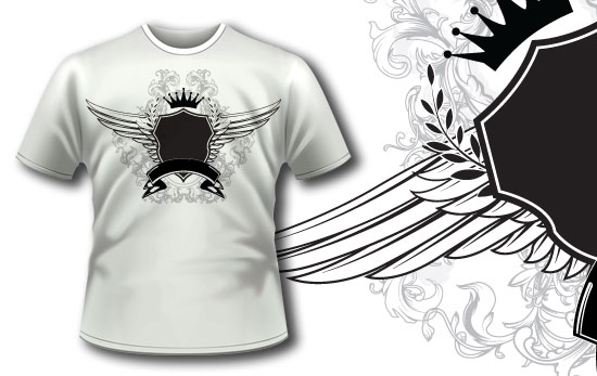T-shirt design 195 T-shirt Designs and Templates heraldry