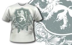 T-shirt design 196 T-shirt designs and templates heraldry