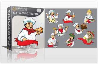 Characters vector pack 1 Sport, Mascots & Cartoons CARTOON