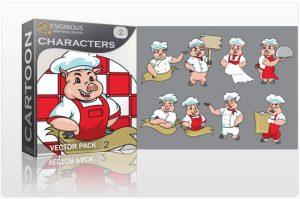 Characters vector pack 2 Sport, Mascots & Cartoons vector