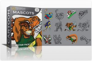 Mascots vector pack 2 Sport, Mascots & Cartoons ball