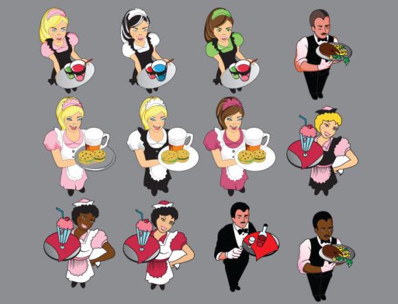 Characters vector pack 3 Sport, Mascots & Cartoons icecream