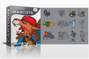 Mascots vector pack 1 Sport, Mascots & Cartoons tiger